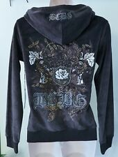NWT BCBG MaxAzria after dark/grey Velour Track Jacket Sz M $160 #3 !