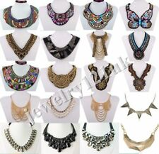 Fashion new vintage Jewelry Pendant Chain Crystal Choker Statement Necklace N