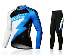 Spakct Cycling Suits Long Jersey Long Sleeve & Pants-Lightning Blue