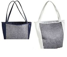 NEW Saks Fifth Avenue Grey White Tote Large Shopping Handbag Bag 2 Color PICK