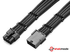 8pin CPU ATX Motherboard Heatshrinkless Sleeved PSU Power Supply Extension Cable