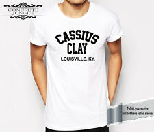 Cassius Clay T Shirt - Muhammad Ali - Boxing - The Greatest - Gym - ARCHED WHITE