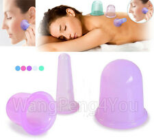 Anti Cellulite Silicone Massage Vacuum Cupping Cup Set Slimming Body Facial Cups