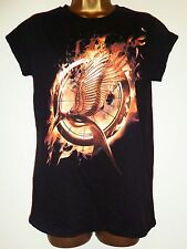 NEW PRIMARK LADIES OFFICIAL THE HUNGER GAMES CATCHING FIRE T-SHIRT TOP Sz 6 - 20