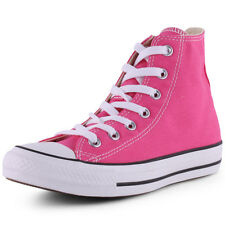 Converse Chuck Taylor All Star Hi Womens Pink White Trainers New Shoes All Sizes