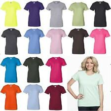 Gildan Ladies Ultra Cotton Blank T-Shirt Womens Tee XS S M L XL 2XL 3XL 2000L