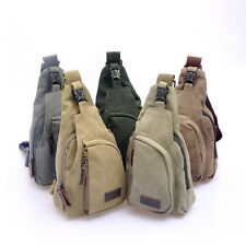Men's Canvas Unbalance Backpack Shoulder Sling Chest/Hiking Bicycle Bag