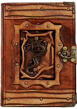 Chinese Dragon Pendant Refillable Leather Journal / Diary / Lock / Notebook Pad
