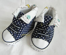 white dot Dark blue high top boy shoes toddler shoes baby boy shoes UK size2,3,4