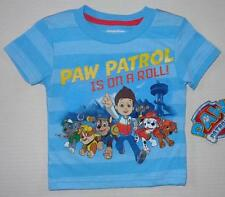PAW PATROL Toddler Boys 2T 3T 4T 5T Short Sleeve Tee SHIRT Top Puppy Dog Nick Jr