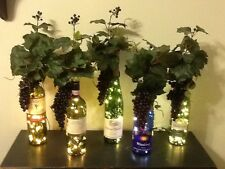Decorative Electric LIGHTED Wine Bottles~Your Choice Bottle Brand~Nightlight