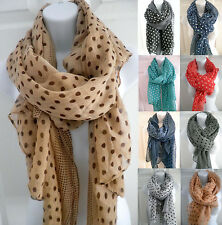women POLKA DOT print soft big long scarf stole shawl cover up wrap sorang pareo