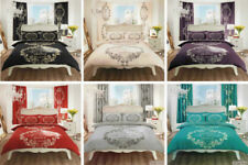 MODERN STYLE FRENCH SCRIPT PARIS DUVET SET MATCHING PILLOW COVER