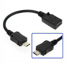 Top USB 2.0 Mini A 5 Pin Female to Micro B Male Adapter F/M Data Cable Converter