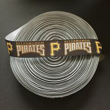 "7/8"" Pittsburgh Pirates Grosgrain Ribbon by the Yard (USA SELLER!)"