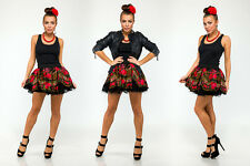 Donatan Cleo Folk Pattern Slavic Girl Mini Skirt Sexy Unique Poland Black Red