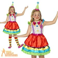 Girls Clown Costume Child Circus Deluxe Fancy Dress Outfit New Age 4-12