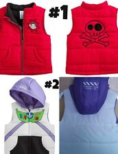* NEW BOYS Disney Pixar Toy Story BUZZ LIGHTYEAR OR Jake Pirates Puffer Vest