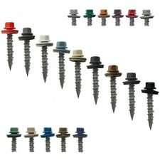 "METAL ROOFING SCREWS: 1"" (250) Bulk Colored Metal Roofing Screw and Siding Screw"