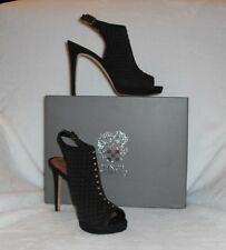 VINCE CAMUTO Caliope Black Suede High Heel Slingback Sandals - Retails $149