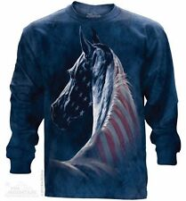 Patriotic Horse Long Sleeve Mountain T-Shirt - Adult S-3X