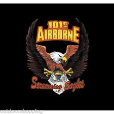 BLACK ARMY 101ST AIRBORNE SCREAMING EAGLES WINGS IMPRINTED 1 SIDED T-SHIRT – Tee
