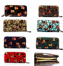 New Quality Ladies Oil Cloth Oil print women's Short zip purse wallet coin fit