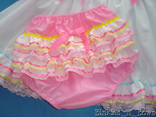 Adult Baby Sissy Dress Up PINKY Diaper Cover ~ With or W/out PUL Lining