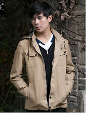 Spring new mens hooded Spring thin jacket short coat tooling outwear tops