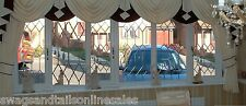 """LUXURY SWAGS AND TAILS+SHOW CURTAINS,FITS WINDOWS 106 to130"""" (269-330cm) WIDE"""