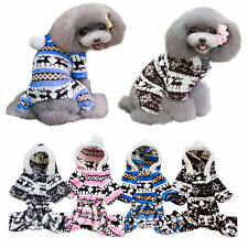 Soft Pet Dog Winter Coral fleece Hoodie Puppy Warm Clothes Jacket Coat Apparel