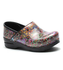 $135 NEW WOMENS DANSKO PROFESSIONAL MOSAIC FLORAL PATENT SHOES CLOGS SIZE