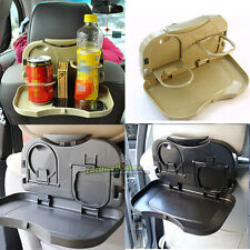 Auto Dining Table Car back seat folding tray Car cup holder Drink Holder Black
