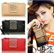 New GIFT Lady Card Coin holder ZIP Wallet Leather Soft Clutch Purse Handbag Bags