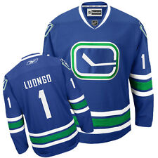 NHL Vancouver Canucks Roberto Luongo Premier Youth Ice Hockey Shirt Jersey