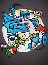 BATMAN & ROBIN Dark Knight Calvin & Hobbes Limited Edition Mens T-Shirt (M-2XL)