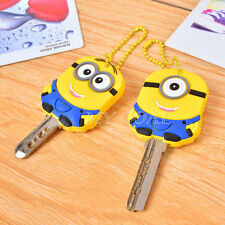Despicable Me 2 Minion Key Top Head Cover Chain Cap Keyring Gift Party Favor