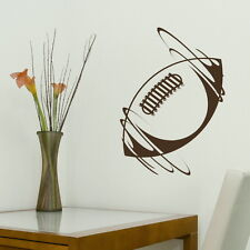 Large rugby ball vinyl wall art sticker big american football decal stencil x27