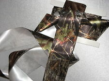 New Mossy Oak Break Up Satin Ribbon, Authentic Mossy Oak Satin Ribbon,