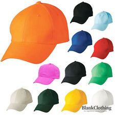 Adult Plain Cotton Baseball Caps | Golf Outdoor Sport Hats | 15 Colours Bulk Buy