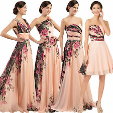 Long Short Wedding Formal Evening Cocktail Ball Gown Party Prom Bridesmaid Dress