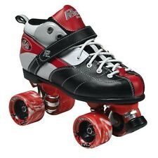 Rock Expression Quad BLACK & RED Roller Skates Normally $249 NEW IN BOX