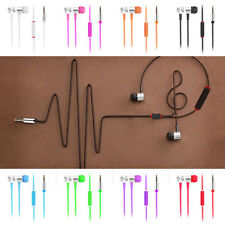 Fashion Braided 3.5mm Mic Stereo Headset Earbud Earphone for iPhone Samsung HTC