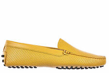 TOD'S WOMEN'S LEATHER LOAFERS MOCCASINS NEW GOMMINI YELLOW  19B
