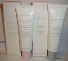MARY KAY FULL COVERAGE LIQUID FOUNDATION IVORY 104 105 200 202 204 PINK OR GRAY