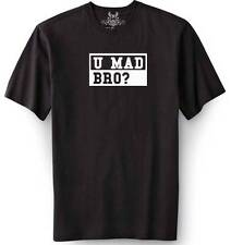"New MEN'S PRINTED ""U MAD BRO?"" MMA JOKE FUNNY T-shirt ALL SIZE"