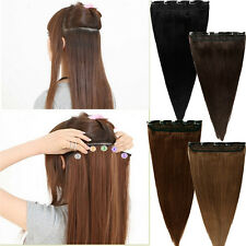 "100% Real Clip In Remy Human Hair Extensions 3/4Full Head One Piece 18 20 22""U13"