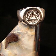 Sterling Silver Alcoholics Anonymous NEW AA Symbol Ring 90