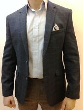 Mens Designer Tweed Vintage Coat Jacket Checked Blazer