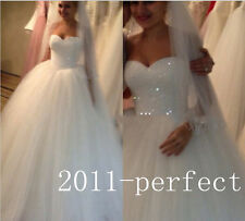 Bling Bead Crystals Sequins Tulle Ball Gown Wedding Dress Puffy Wedding Dresses